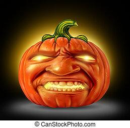 Pumpkin Jack O Lantern - Halloween pumpkin jack o lantern as...