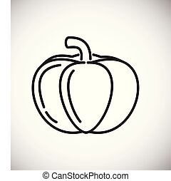 Pumpkin line icon on white background for graphic and web design, Modern simple vector sign. Internet concept. Trendy symbol for website design web button or mobile app.