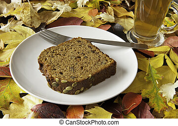 Pumpkin Loaf with Leaves