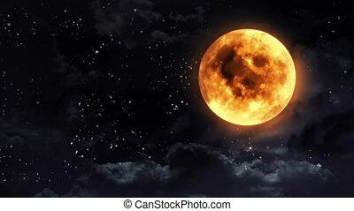 pumpkin moon black white