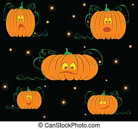pumpkin on a black background