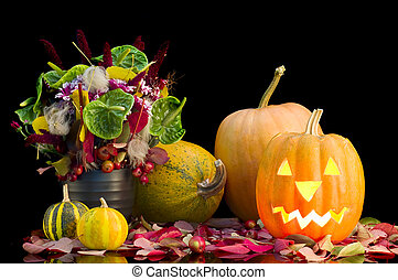 pumpkin on a Halloween party