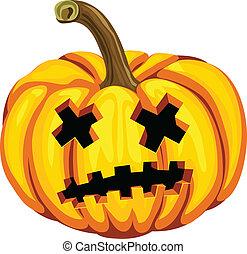 Pumpkin on a white background. Vector illustration.