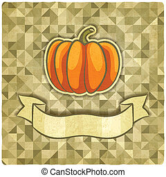 pumpkin on geometric background