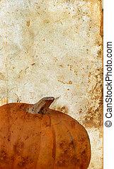 Pumpkin on Grunge Background