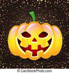 Pumpkin on the background of serpentine