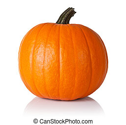 Pumpkin on white - Fresh orange pumpkin isolated on white...
