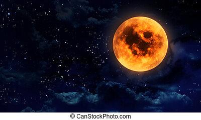 pumpkin orange moon