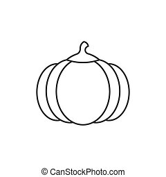 Pumpkin outline icon