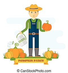 pumpkin patch farmer