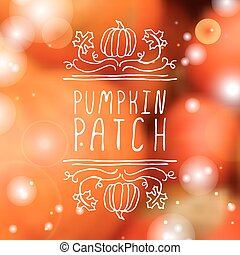 Pumpkin patch - typographic element