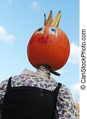 Pumpkin person portrait