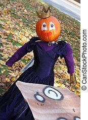 Pumpkin person princess