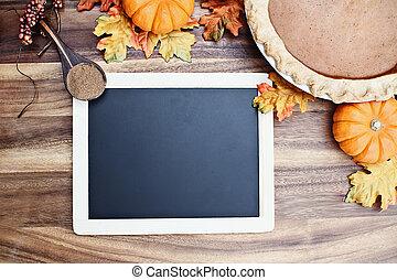 Pumpkin Pie and Blackboard