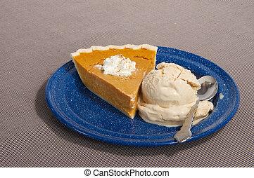 Pumpkin Pie and Icecream