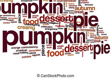 Pumpkin pie word cloud