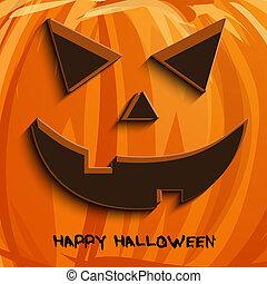 pumpkin portrait  for Halloween on background