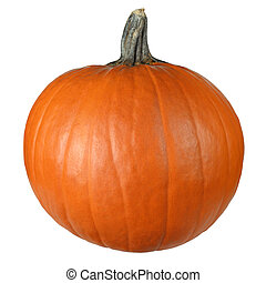 Pumpkin ready to carve - Isolated image of a pumpkin against...