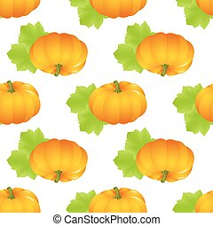 pumpkin seamless isolated