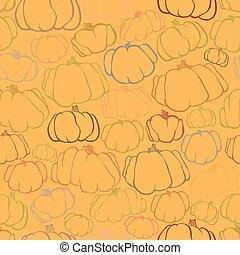 Pumpkin seamless orange pattern background