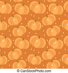Pumpkin seamless pattern. Gourd, endless background, texture. Vegetable backdrop Vector illustration.