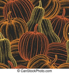Pumpkin seamless pattern