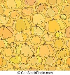 Pumpkin seamless vector pattern background