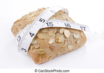 pumpkin seed roll with measuring tape
