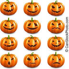 Pumpkin Set Isolated