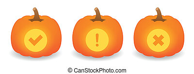Pumpkin set with icon