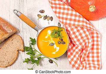 pumpkin soup and cream