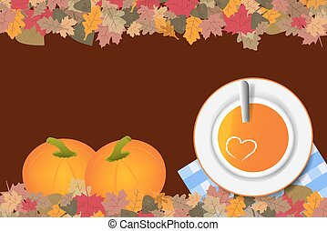Pumpkin soup concept vector ready for your text