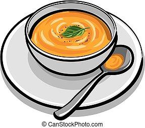 pumpkin soup vector clipart royalty free 287 pumpkin soup clip art rh canstockphoto co uk soup clip art free images soup clip art free images