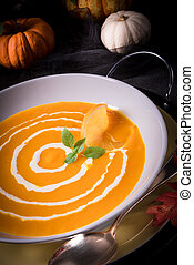 Pumpkin Soup with orange