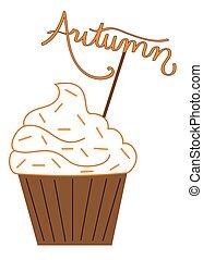 Pumpkin Spice Autumn Cupcake