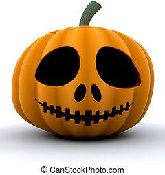 Pumpkin - 3D render of a pumpkin