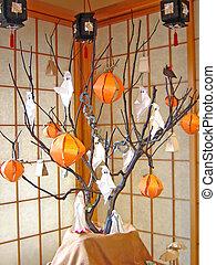 Pumpkin tree in japan