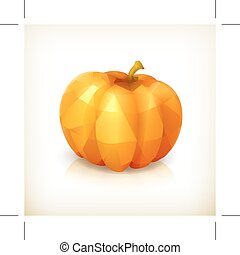 Pumpkin triangulation icon - Pumpkin triangulation, icon,...