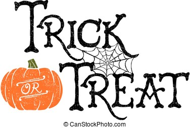 Pumpkin Trick or Treat - Trick or Treat. Vector of a...