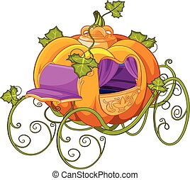 Pumpkin Turn into a Carriage for Cinderella - Pumpkin turn...