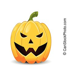 pumpkin with an evil expression