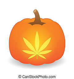 Pumpkin with icon