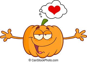 Pumpkin With Open Arms