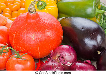 Pumpkin with vegetables