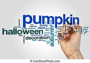 Pumpkin word cloud concept