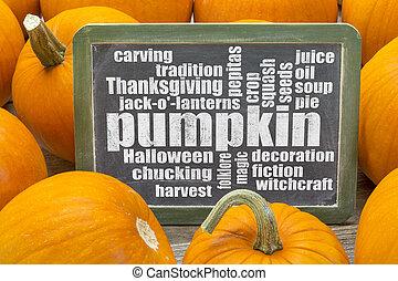 pumpkin word cloud