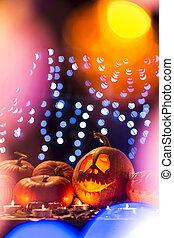 Pumpkins as a Halloween decoration