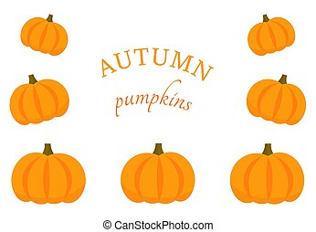 Pumpkins border background