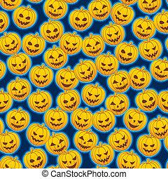Pumpkins - Seamless pattern of pumpkins