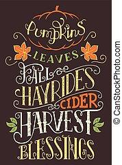 Pumpkins leaves